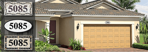 Custom Mosaic  House Numbers Address