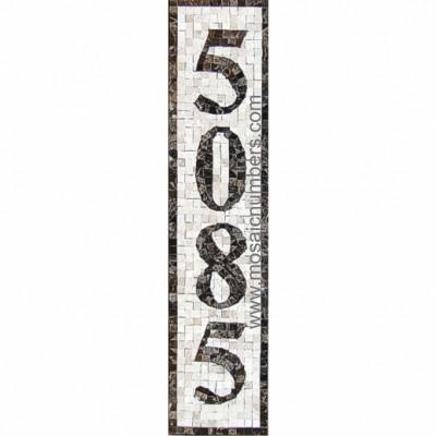 Mosaic House Numbers Monaco - V1P T