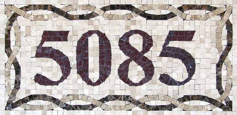 Mosaic House Numbers Venice - H1P