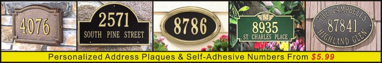 Personalized Address Plaques & Self-Adhesive Numbers Banner