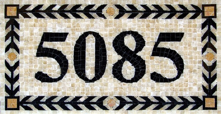 Mosaic House Numbers Athens - H1P