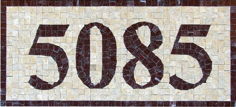Mosaic House Numbers Monaco - H2P